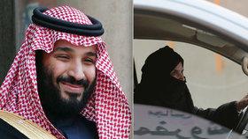 """Opravdu patří ženy za volant? Reformy korunního prince dostávají """"na frak"""""""