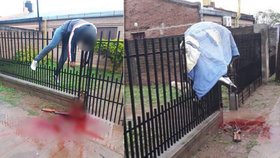 Hrůzné foto mrtvoly na plotě: Vrahovi na útěku selhala zbraň!