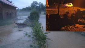 Přívalový déšť spláchl Tachovsko: Hasiči vodu čerpali ze sklepů i rodinného domu