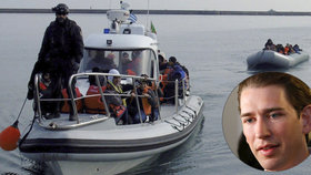 Evropa se má migrantům bránit už v Africe, navrhuje rakouský kancléř Kurz