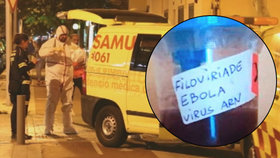 Panika v dovolenkovém ráji: Krvavá lahev s nápisem ebola vyděsila Mallorcu