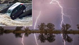 Dvě mladé ženy zasáhl blesk. Smršť přinesla v Německu záplavy a rušila lety