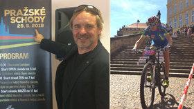 Pražské schody jsou o výkonech i bolístkách, říká zakladatel závodu Roman Čermák (58). Letos se pojede 25. ročník