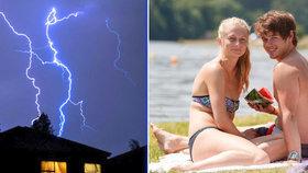 Po tropech se na Česko ženou bouřky. Přinesou i krupobití, sledujte radar