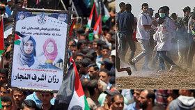 Zdravotní sestru (†21) zabili při protestech. Palestinci u rakve propukli v pláč