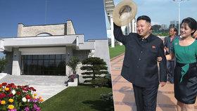 Jak bydlí diktátor Kim: Luxusní vila, okrasná zahrada, bílé sochy a černá limuzína