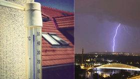 """Horké teploty se budou střídat s bouřkami. Prahu čeká další """"náladový"""" týden"""