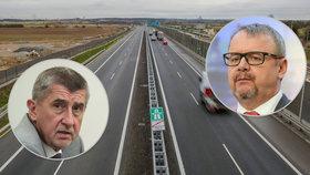 """""""Bída,"""" běduje Babiš. Dálnici D3 z Prahy do Tábora začnou stavět až za tři roky"""