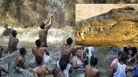 Pastor pořádal hromadný křest v jezeře. Zabil ho při tom krokodýl