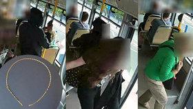 Zloději ženám strhávali řetízky v tramvajích: Jeden policie našla a hledá jeho majitelku
