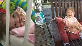 Laurinka (3) trpí vzácným CHARGE syndromem: Jedna rehabilitace stojí rodinu 65 tisíc korun. Pomůžete?