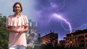 Bouřky s kroupami a vichrem udeří na západě Česka, pršet bude i jinde. Sledujte radar