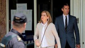 Manžel španělské princezny nastoupil do vězení. Pětiletý trest si odpyká mezi ženami