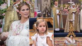 Královský fracek na křtinách: Princezna se válela po zemi a hrála si s kamením!