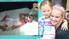 Takhle jsem byla malinkatá! Ella (7) se po narození vešla do dlaně... Vážila i 580 gramů!