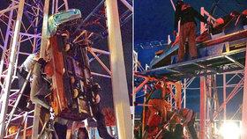 Nehoda horské dráhy na Floridě: Lidé padali z výšky deseti metrů!