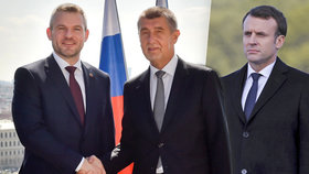 Macron oslaví 100 let Československa. Po boku bude mít Babiše i Pellegriniho