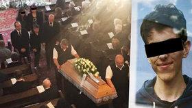 Srdcervoucí pohřeb Adama (†14), který zemřel při tělocviku: Příčina smrti odhalena