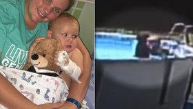 Pětiměsíční chlapec se topil v bazénu: Matka ho vytáhla už modrého, přesto dítě přežilo