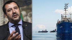 """""""Přijměte Lifeline, je u vás,"""" žádá Salvini Maltu. Do Itálie loď s migranty nepustí"""