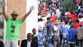 Falešný policista hodil granát na premiéra: Jeden mrtvý, přes 150 zraněných