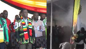 """Atentát na prezidenta: Výbuch po projevu odnesla """"pravá ruka"""" lídra Zimbabwe"""