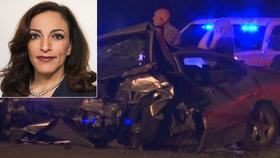 Politička má po vážné nehodě na dálnici zlomenou páteř a žebra. Volby nevzdává
