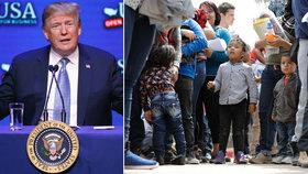 Trump chce migranty vyhošťovat i bez soudů. USA jsou podle něj pro smích celému světu