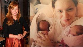 Geislerová zveřejnila fotky z porodnice: Když dvojčata přivedla na svět