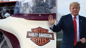 Dělat Harleye jinde? Nikdy! Trump kritizoval výrobce motorek za přesouvání do Evropy