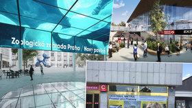 Náměstí až k tramvajím i čtyřpatrový vestibul: Takhle by mohl vypadat výstup z metra Nádraží Holešovice