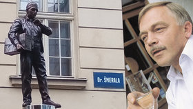 Karel Kryl stojí v Ostravě: Před budovou rozhlasu je jeho první socha v Česku