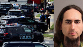Pět mrtvých po útoku v amerických novinách. Střelec se mstil za dávný článek o něm