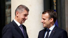 Babiš u Macrona chválil konec kvót. Prezident místo oslav Československa zamířil na fotbal