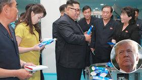 Kim se ženou si vyrazili za kosmetikou, Trump se bojí o osud jaderné dohody