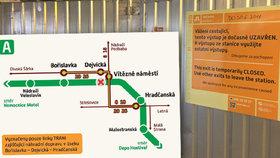 """Metro postihnou o prodlouženém víkendu uzavírky: Zavřená bude Dejvická i dvě stanice na """"céčku"""""""