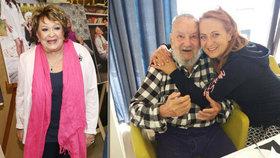 Tatínek Simony Stašové po dvojité operaci mozku: 90 slavil s exmanželkou Bohdalovou!