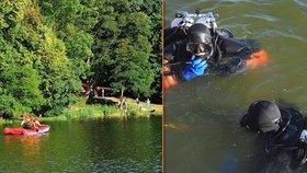 Mrtvola v Hostivařské přehradě: Utopil se tu mladík, potápěči tělo vytáhli za půl hodiny