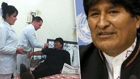 Prezident musel na operaci, odstranili mu druhý nádor. Morales se cítí fit