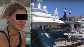 Záhadná smrt na luxusní jachtě: Krásnou stevardku (†32) našli mrtvou v její kajutě!