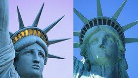 Pošta si na známkách popletla sochy Svobody. Kopie z Vegas ji přijde na miliony