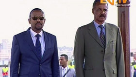 """""""Je to historický den."""" Po vleklé válce přivítala Etiopie eritrejského prezidenta"""
