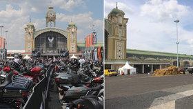 Harleyáře v Praze připomínají už jen letáky a plakáty: Uklízet se na Výstavišti ale bude ještě v úterý