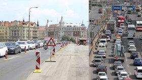 Uzavírky na hlavních tazích v Praze komplikují dopravu: TSK slibuje urychlení oprav