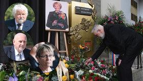Pohřeb první dámy české justice (†88): Loučili se s ní Pithart, Šabatová či Rychetský