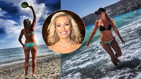 Takhle ji za pultem neuvidíte: Moderátorka Borhyová (40) vystavila sexy tělíčko v plavkách!