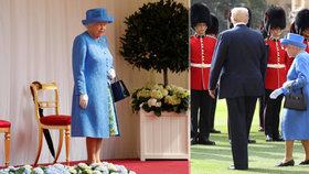 Trump udělal Alžbětě II. to, co nesmí ani její muž. Navíc královnu nechal čekat