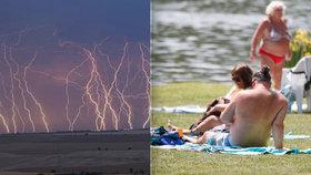 Do Česka se vrací vedra. Na začátku týdne přijdou i silné bouřky, varují meteorologové