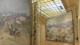 Muchovo dílo rozpůlili: Kus Slovanské epopeje je v Obecním domě