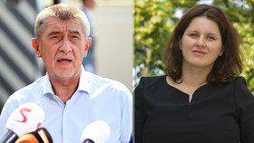 Babiš se sešel s kandidátkou Maláčovou, funkci podle něj zvládne. Výhrady má Foldyna